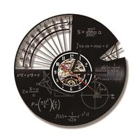 Mathematical Formula And Quartz Wall Clock Home Decorative Math Themes Led Record Wall Clock
