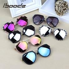 Iboode-lunettes de soleil réfléchissantes pour enfants, Design de marque, pour garçons et filles, lentille en résine UV400
