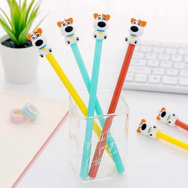 אלן ברוק 1 חתיכות מכתבים חמוד Cartoon Kawaii כלב ג 'ל עט בית ספר משרד אספקת ידיות מתנה האסקי