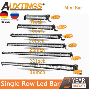 Auxtings Slim LED Light Bar Single Row 7