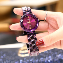 цены Fashion Luxury Brand Watch Women Ladies Watch Waterproof Flash Star Round Dial Gifts Wrist No Fade Watches For Women Clock
