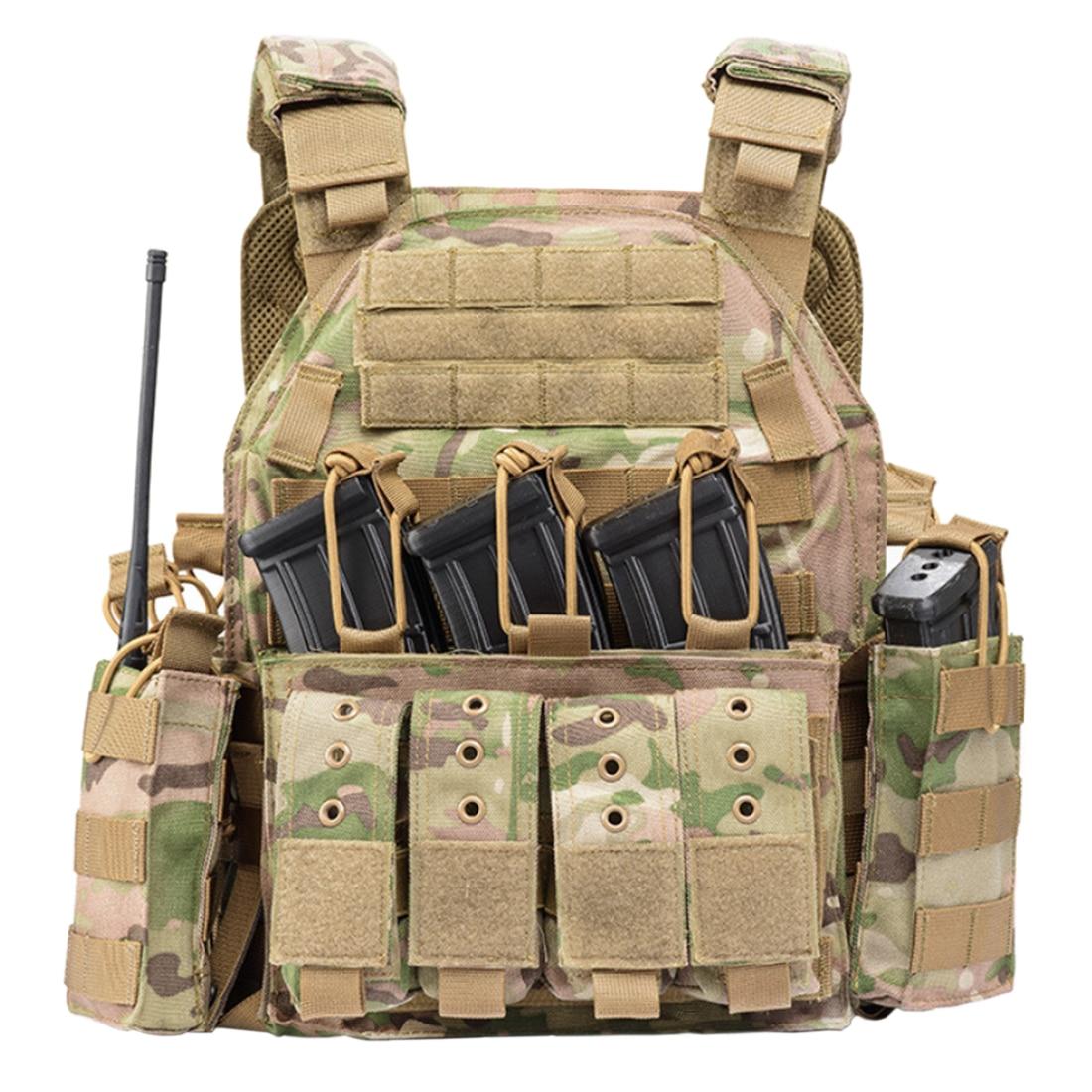 YAKEDA 1000D Nylon plaque transporteur tactique gilet extérieur chasse protecteur réglable gilet pour hommes Airsoft Combat accessoires