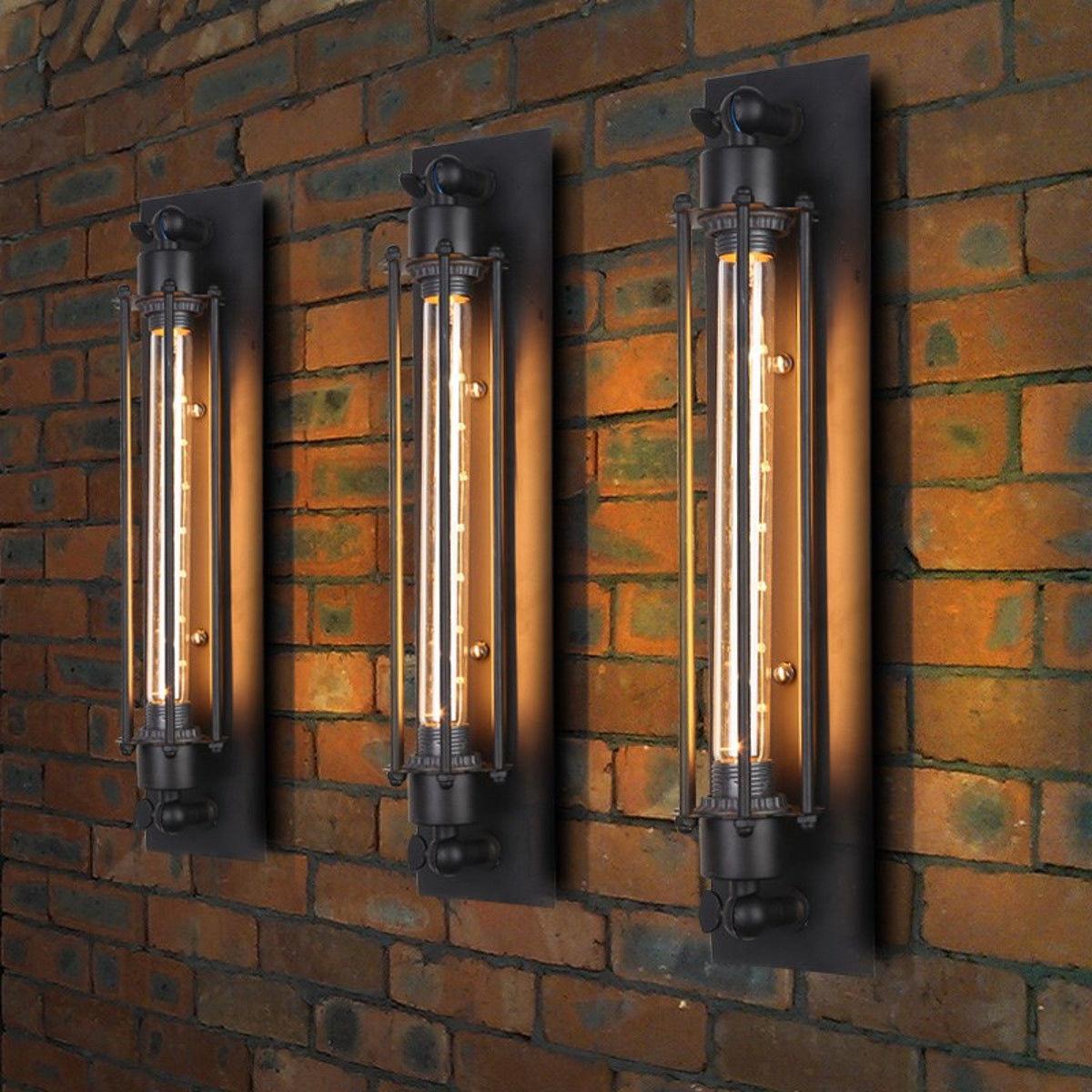 Vintage Edison LED Wall Light Modern Corridor Vintage Retro Industrial E27 Wall Lamp Led W filament Indoor LED Light 110 250V