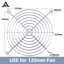 цена на 5 Pieces CPU Fan Grill for Cooling Fan 120mm 12cm Fan Protector Metal Finger Guard Computer Fan Accessories