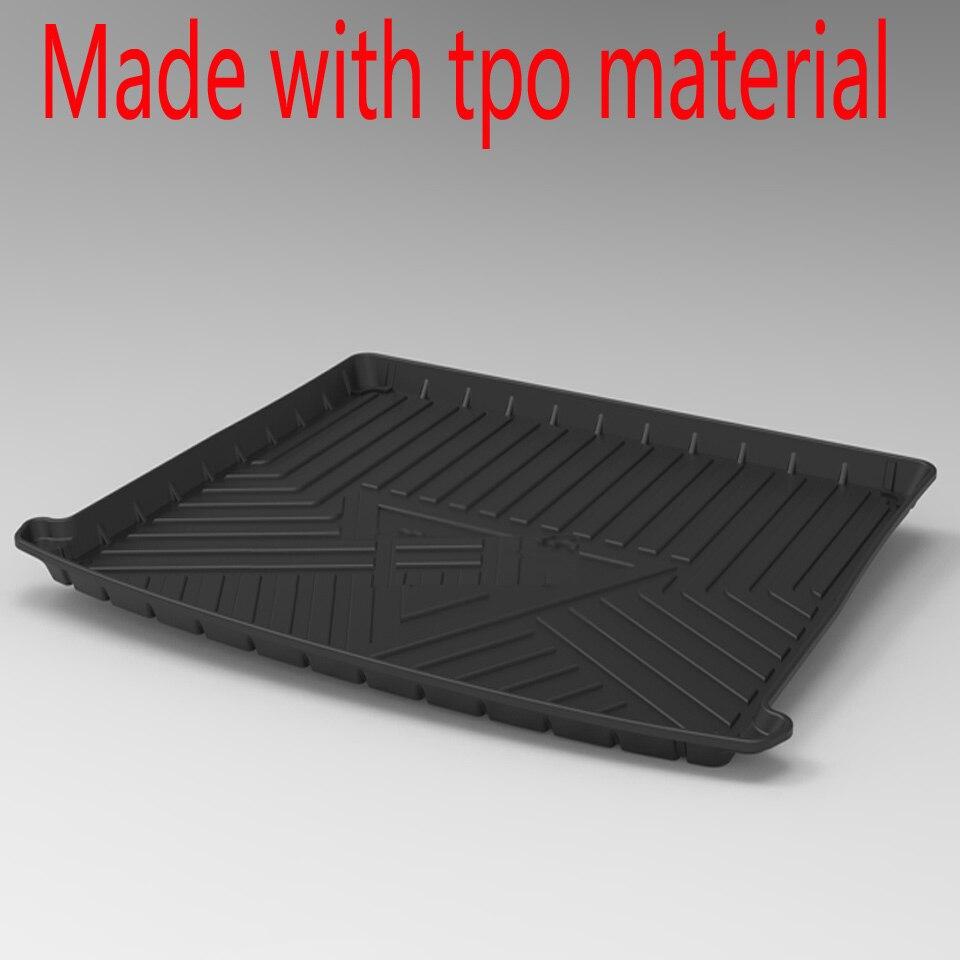 For KIA KX CROSS K2 KX1 CARENS K4 K5 Cachet Niro Waterproof Anti-slip Rubber Car Trunk Mat Tray Floor Carpet Pad Tpo Cargo Liner