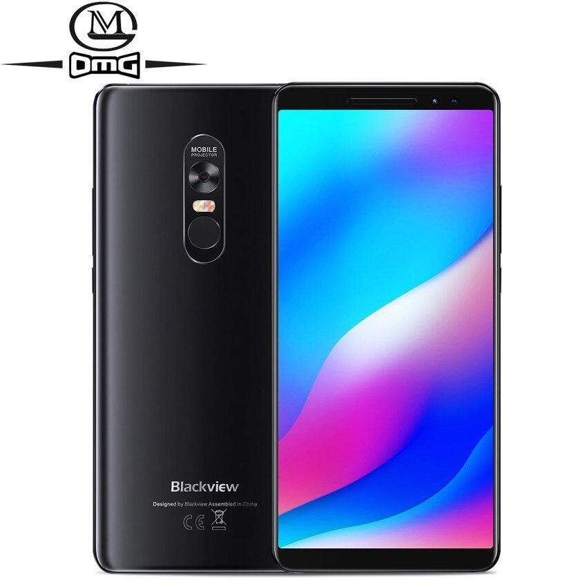 Blackview Max 1 Projector Mobiele Telefoon Amoled Android 8.1 Mini Projector Draagbare Home Theater 6 Gb + 64 Gb 4680 Mah 4g Smartphone Om Een Gevoel Op Gemak En Energiek Te Maken