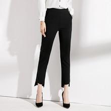 Spring Summer Women Irregular Pants High Waist Pencil Trousers Female Black Casual Office Pantalon Femme