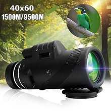 40X60 день и Ночное Видение Двойной фокус HD Оптика зум Монокуляр телескоп водонепроницаемый супер прозрачный для охоты на открытом воздухе