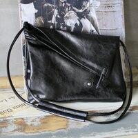 New Fashion Creative Designer Black High Quality PU Leather Shoulder Bags For Men Messenger Bag Crossbody Bag Casual Travel Bags
