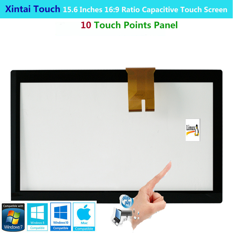 Xintai Touch 15.6 Inches 16:9 Ratio Projected Capactive Touch Screen Panel With 10 Touch Points Plug&Play