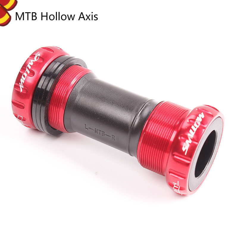 SMLLOW MTB BIcyle Axis Bearing Screw Type 68/73 Mm Bicycle Axis MTB Road Bike Bottom Bracket