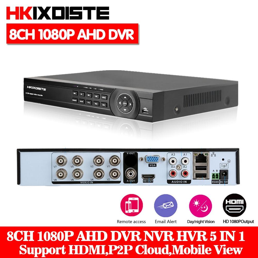 HD 8CH AHD DVR HDMI 1080P Digital Video Recorder AHD-NH Network Monitor, CCTV DVR Recorder Max To 6TB P2P Cloud, CMS,Mobile View цена