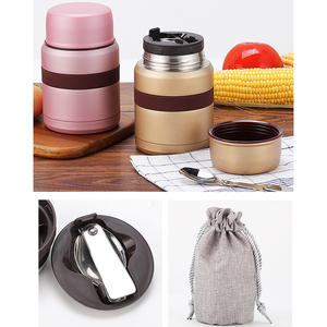 Image 3 - 4 Colors for hot food 350mL with containers thermos Thermoses stainless steel mini lunch box thermo mug Vacuum Flasks