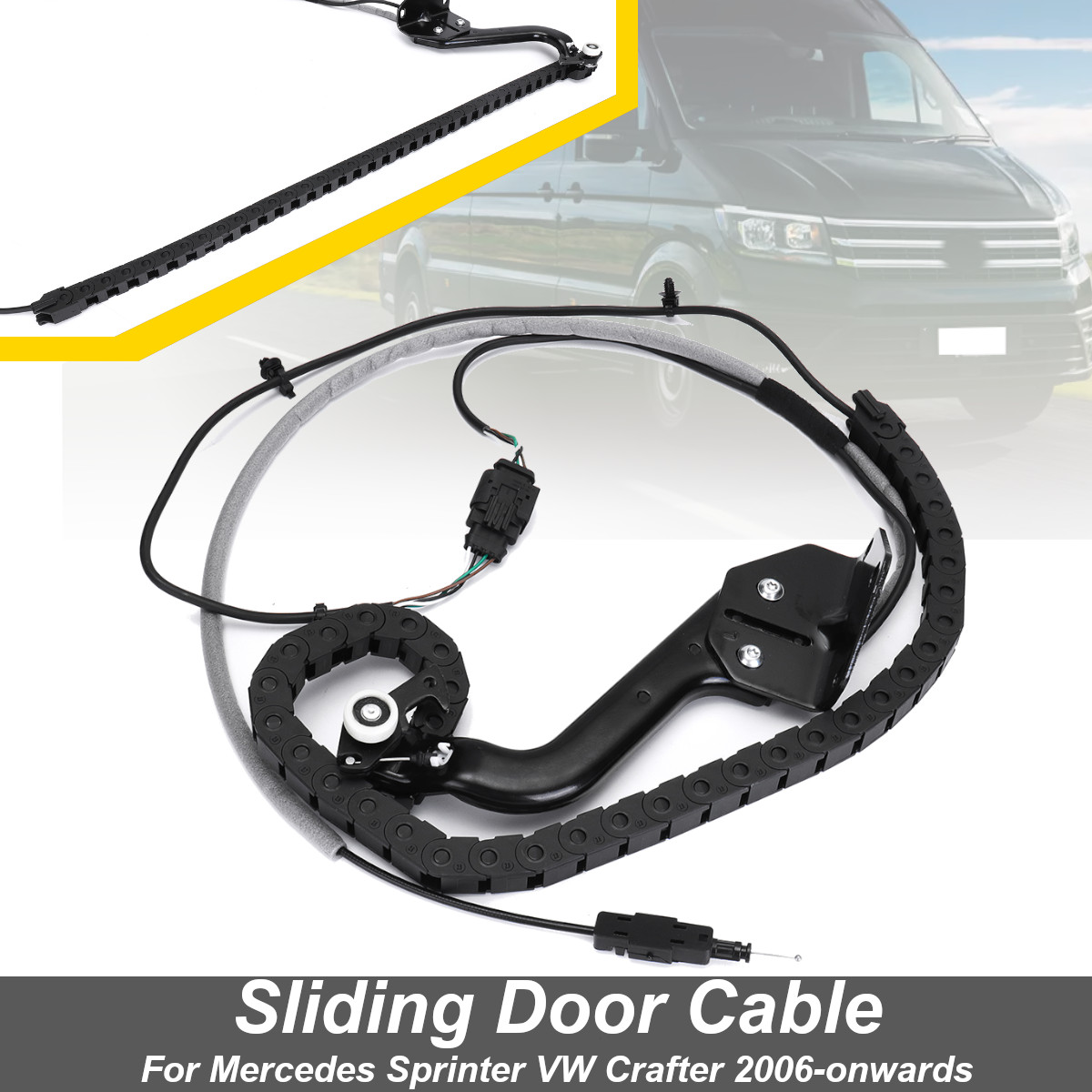 9068203369 porte coulissante câble inférieur rouleau piste gauche N/S pour Mercedes Sprinter pour VW pour Crafter 2006-à partir de