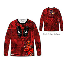 Hot Anime Marvel Comics Superhero Batman Spiderman Ironman DeadpoolSuperman Cosplay dress Long sleeve DC Tshirt Tops Tees