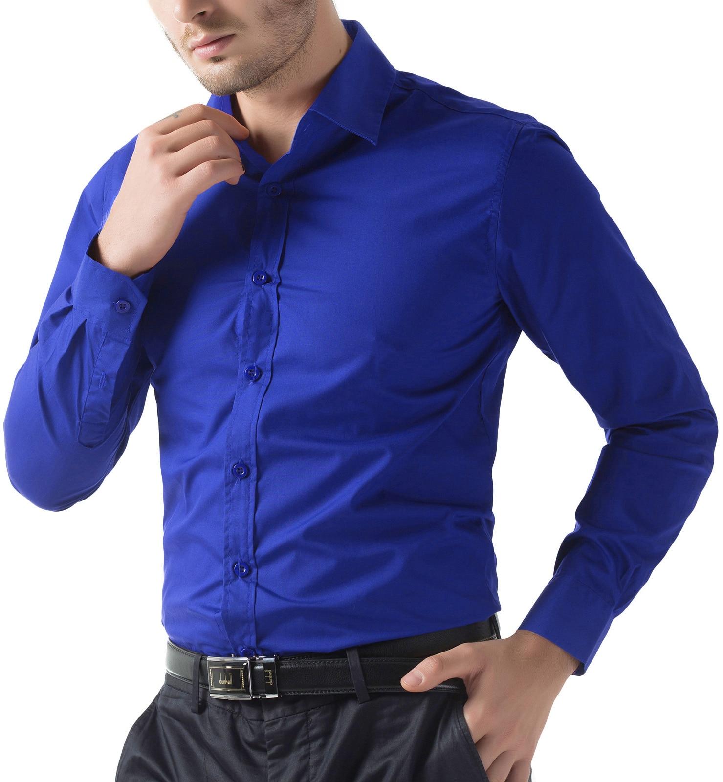 Fashion Mens Luxury Long Sleeve Shirt Casual Slim Fit Stylish Tops Trendy Cool