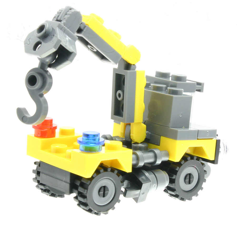 44Pcs/set Crane Truck Model Figures Staff Toys for Children Model Building Kits Compatible with All Brands DT0102