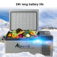 18L 220 V/12 V/24 V переносной мини холодильник 58x33x29 см дома и автомобильный холодильник морозильник фургон, кемпинг мини ремень привода вентилято