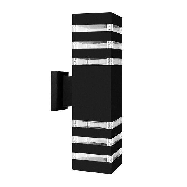 Lampe dextérieur imperméable, design industriel, éclairage dextérieur, design moderne, éclairage den haut et den bas à mur LED, luminaire décoratif dextérieur, idéal pour un jardin