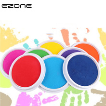 EZONE Large Ink Pad DIY Craft Finger Print Inkpad Rubber Stamps  Ink Toys Kids Games Scrapbooking Accessory School Office Supply
