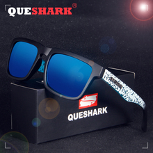 QUESHARK TR90 Frame HD Mirrored Polarized Sunglasses For Men Women Fishing Hiking Outdoor Sports
