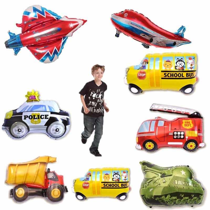 1pc Large 82cm Car And Aircraft Balloons Happy Birthday Party Decoration Kids Adult Fighter Foil  Helium Balloon Anniversaire