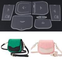 1 Set Acrylic Leather Template Transparent Leathercraft Templates Bag Pattern Stencil for DIY Shoulder Bag Wallet