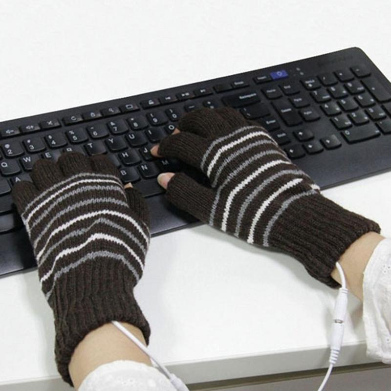 USB Heated Gloves Winter Thermal Hand Warmer Electric Heating Glove(China)