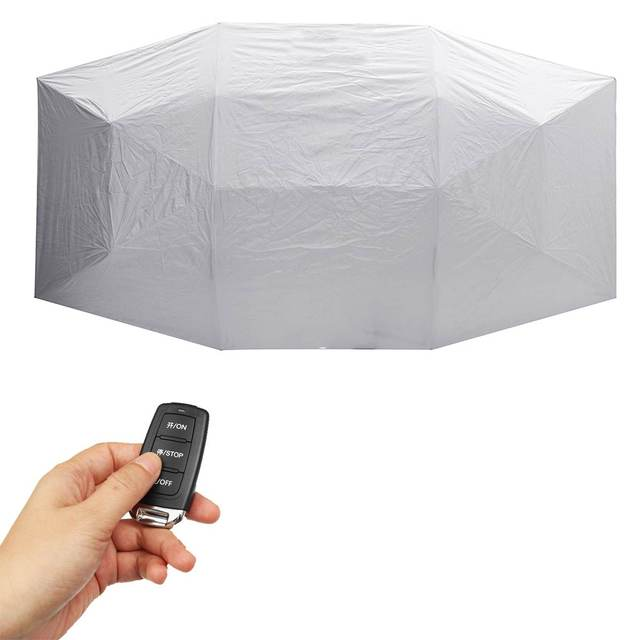 Portable Full Automatic Car Cover Umbrella Outdoor Car Tent Umbrella Roof Cover UV Protection Kits Sun Shade with Remote Control 5