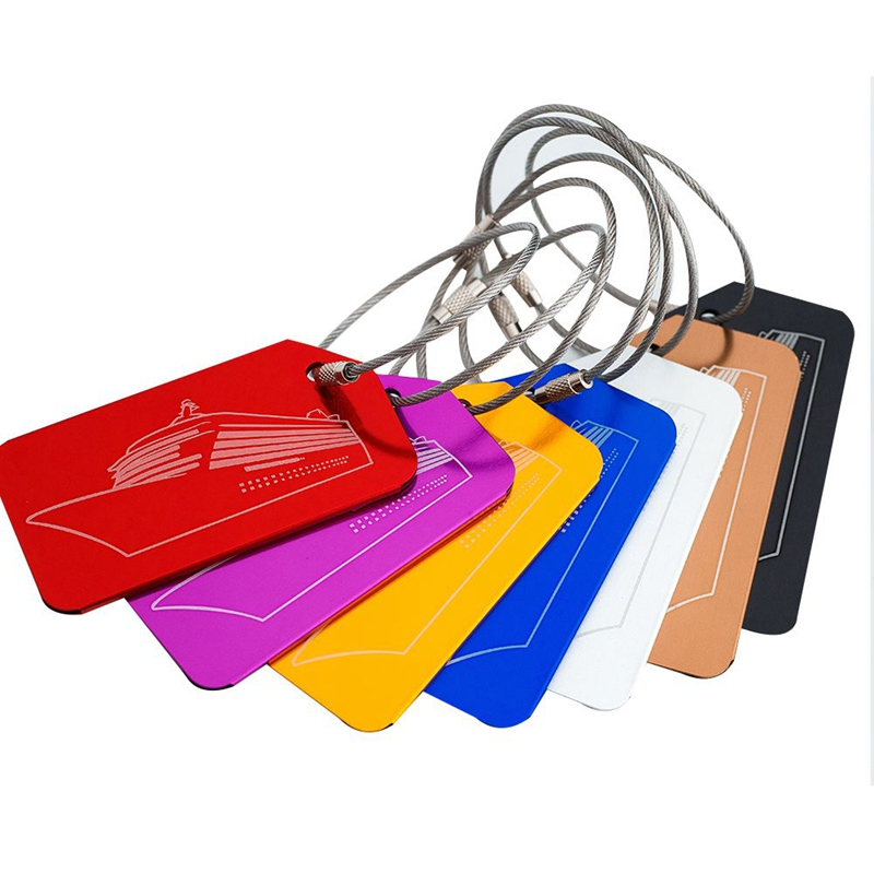 7Pcs/Set Travel Accessories Luggage Tag Aircraft Portable Secure Travel Suitcase Label Boarding Bag Tags