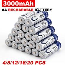 4-50 шт 3000 mAh AA 2A Ni-MH 1,2 V перезаряжаемая перезарядка аккумулятора предварительно Заряженная ni-mh аккумуляторная батарея для игрушечная камера м...(China)