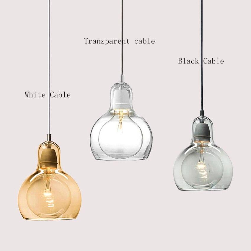 Modern Gourd Glass Pendant Lights Led Pendant Lamp Cafe Bar Restaurant Light Fixtures Hanging Lamp Kitchen Fixtures Luminaria in Pendant Lights from Lights Lighting