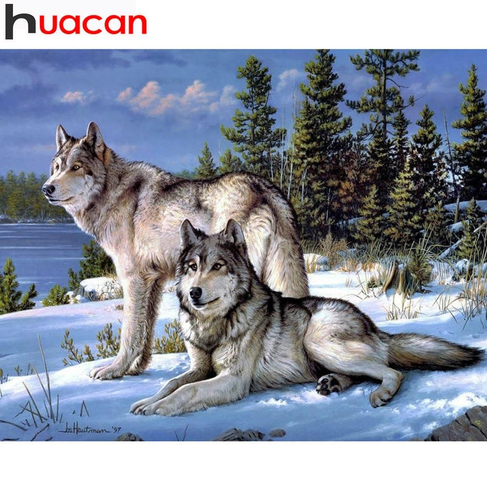 Artesanía Diamante Bordado Wolf Diy Full Diamond Pintura Kit 30x40 - Artes, artesanía y costura