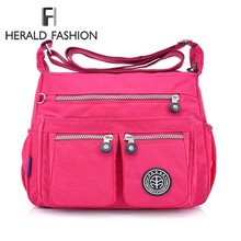 5ccb3396639 Herald Fashion Women Messenger Bags Quality Nylon Waterproof Handbag Female  Shoulder Bag Vintage Hobos Ladies