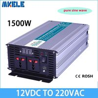 Инвертор Max 2500 Вт 1500 Вт 12 В к AC 220 110 вольт ЖК дисплей цифровой 1 USB чистая синусоида конвертер автомобильный заряд конвертер трансформатор