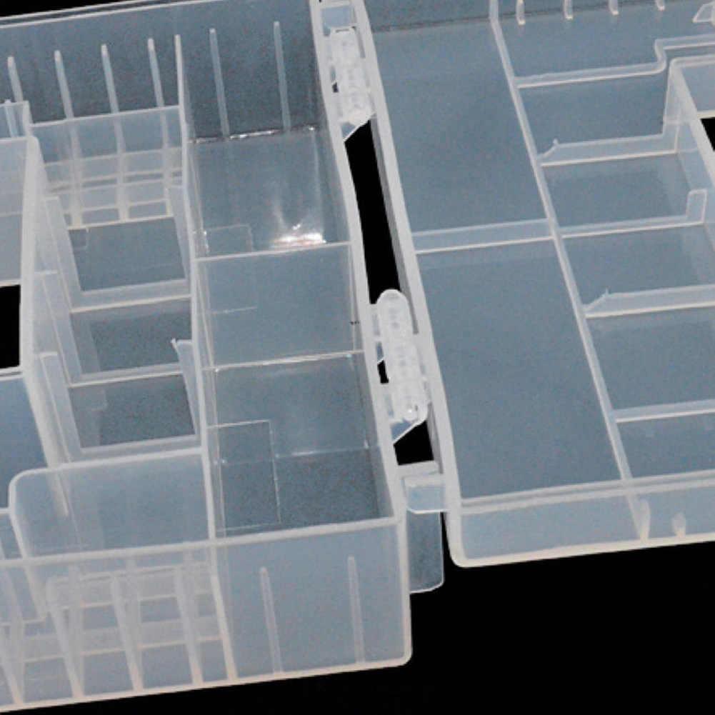 Практичная износостойкая батарея чехол противоударный жесткий пластиковый коробка для хранения емкость контейнер внутренний отсек AA AAA