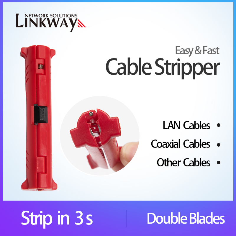 Network LAN Cable Stripper Coaxial Cable Insulation Stripping Tools Electrical Wires Stripper Pliers Double Blades