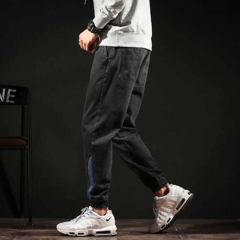 #2013 Autumn Winter Pencil Harem Denim Jeans Plus Size Biker Jeans Black Loose Vintage Japanese Streetwear Fashion Full Length 3