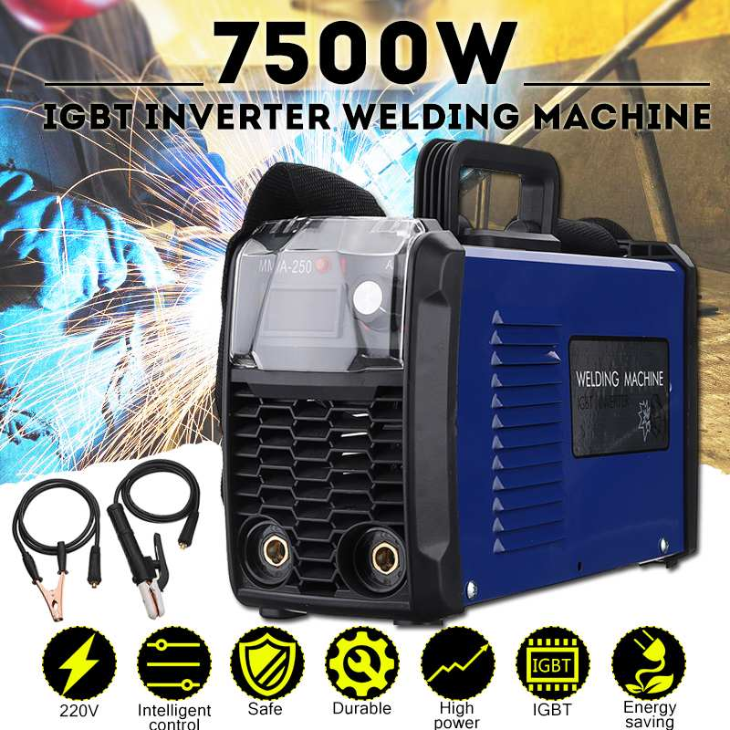 New IGBT Inverter Arc Electric Welding Machine MMA 200 / MMA 250 220V Digital Display Arc Stick Welders Set With Mask