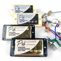 1 Set Original Echten Epi LP Standard PRO Elektrische Gitarre Alnico Humbucker Pickup Nickel/Gold Abdeckung Mit Kabelbaum
