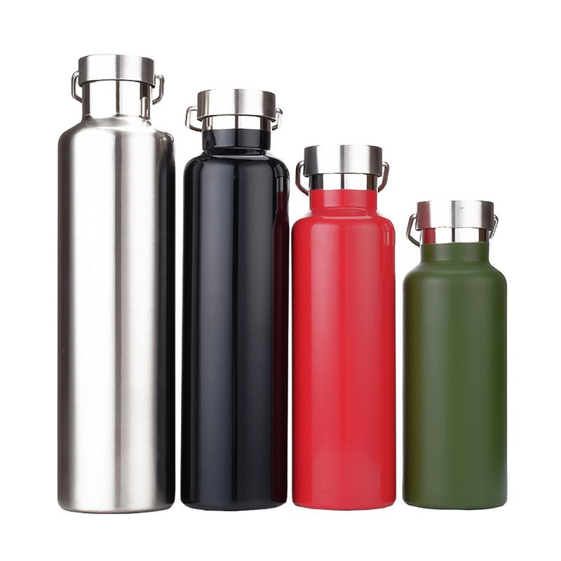 Double Wall Stainless Steel Vacuum Flasks 350/500/600/750/1000 Ml Thermos Cup Coffee Tea Milk Travel Mug Thermo Bottle 4 Colors