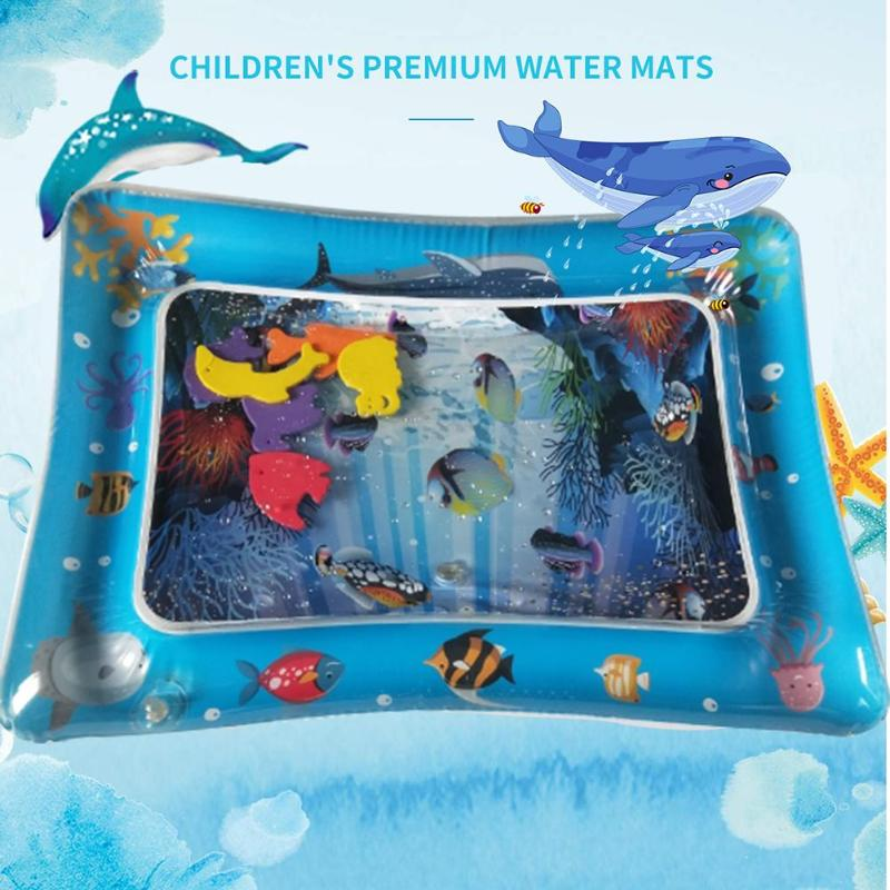 Baby Kids Water Play Mat Inflatable Toddler Fun Activity Play Center Thicken PVC Infant Tummy Time Playmat Water Mat For Babies