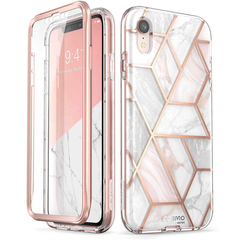 Ameth 2020 Release Slim Full-Body Stylish Protective Case with Built-in Screen Protector iPhone 12 Pro 6.1 inch i-Blason Cosmo Series Case for iPhone 12