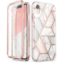 """Für iPhone XR Fall 6.1 """"ich Blason Cosmo Serie Volle Körper Glitter Marmor Stoßstange Fall mit Gebaut in Screen Protector Für iPhone Xr"""