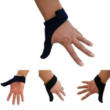 Unisex Adult Breathable Elastic Right/Left Hand Finger Grip Thumb Stabilizer Saver Protection Glove for Bowling Ball Sports(China)