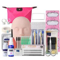 False Eyelash Extensions Tool Kit Eyelashes Semi Permanent Makeup Individual False Lash Glue Tweezer Practice Graft Lashes Kit