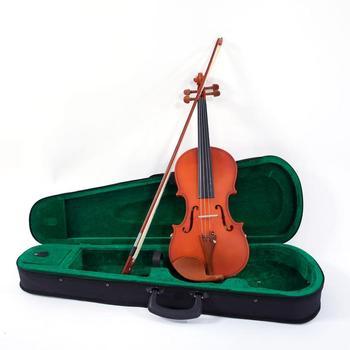 4 4 w pełnym rozmiarze mat skrzypce akustyczne zestaw 4 4 skrzypce skrzypce z torba koncertowa łuk kalafonii struny oparcie na ramię Tuner dla początkujących tanie i dobre opinie WX01245 Maple Heban Arbor Jujube
