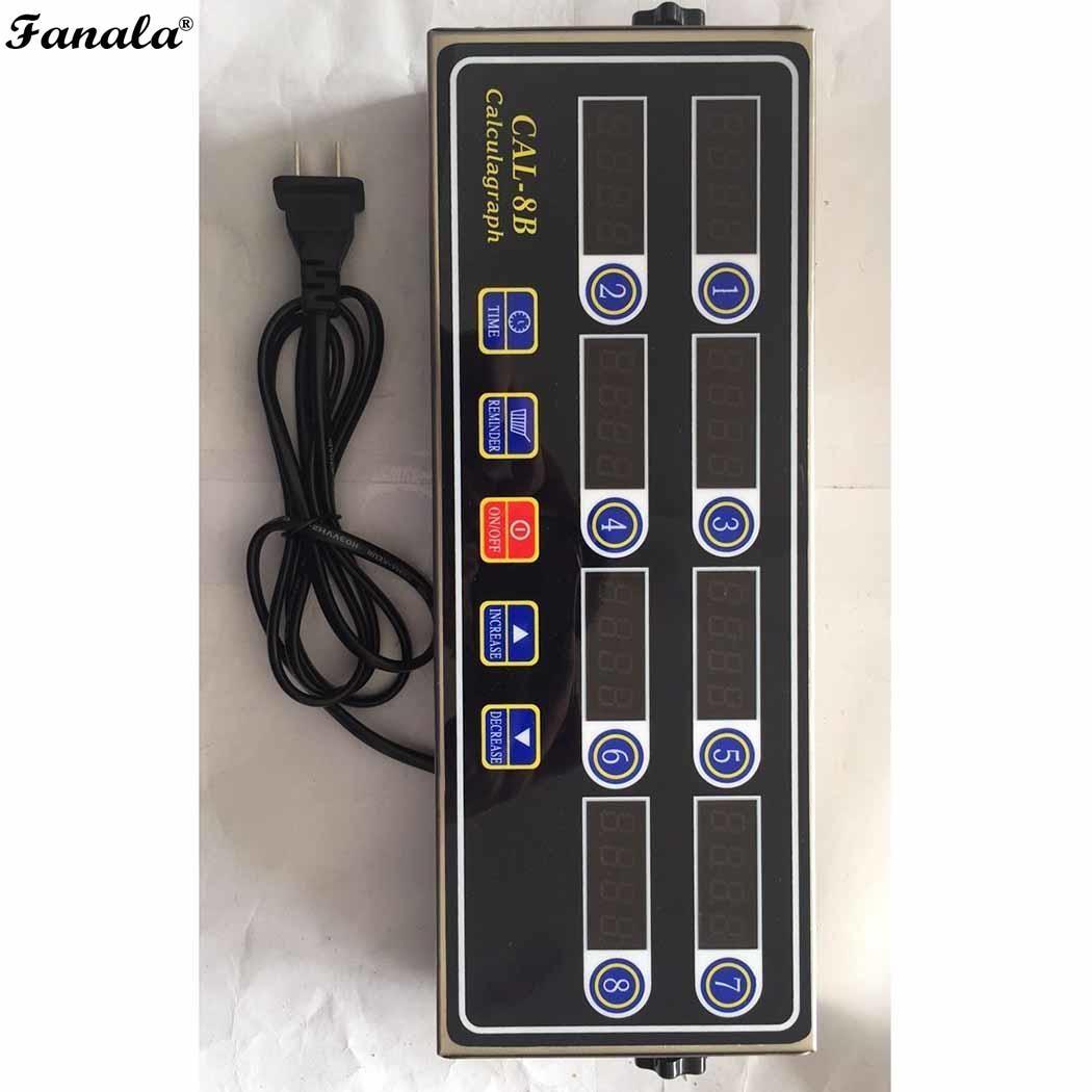Portable Chronomètre écran lcd 8 Canal Numérique Cuisine, etc CAL-8B Minuterie Accueil AC 220 V 50/60Hz 2 W Cuisine