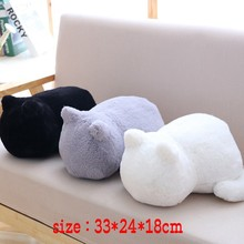 Cat Doll Pillow Kawaii Cartoon plush cushions pillow Back Shadow Filled Animal Toys