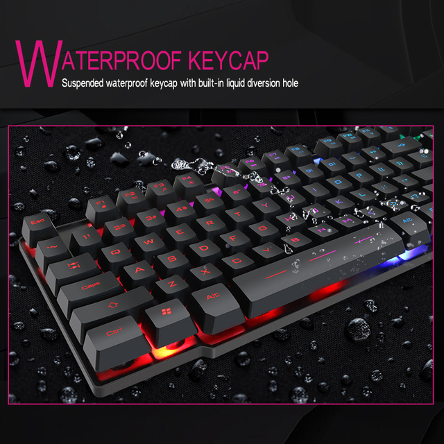 Gaming Mechanical Feeling Keyboard (104 Keycaps)